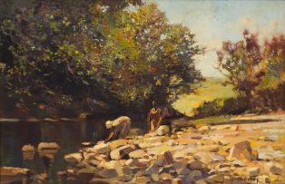 Errol Boyley; Figures by the Stream
