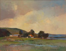 Errol Boyley; Landscape with Farm Houses
