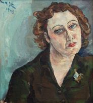 Irma Stern; Freda in Khaki Dress