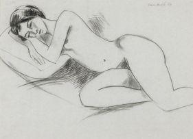 Maurice van Essche; Female Nude Sleeping