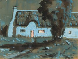 Sydney Carter; Cottage and Trees
