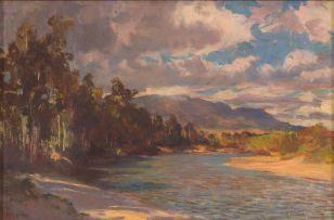 George Crosland Robinson; A Riverine Landscape