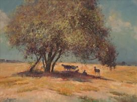 Christopher Tugwell; Goats Under a Tree