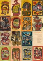 Lucky Sibiya; uMabatha, 'a Portfolio of fifteen woodcuts...', each individually framed
