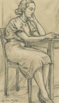 Erich Mayer; Seated Woman