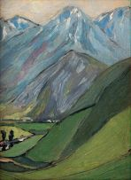 Jacob Hendrik Pierneef; Mountain Study