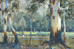 Sydney Carter; Gum Trees by a River