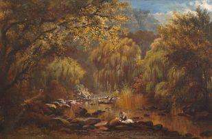 Charles Rolando; Washerwomen at the Liesbeek River