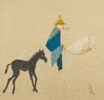 Ernest Ullmann; Horse Rider with Pipe