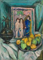 Irma Stern; Still Life with Fruit, Urn and Pot