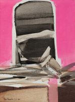 Nils Burwitz; Abstract on Pink Background