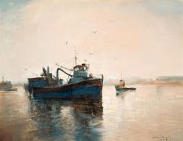 Errol Boyley; Boats at Sea