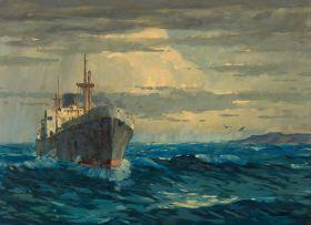 Nils Andersen; Ship at sea