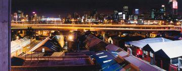 Leon Krige; Newtown looking towards Johannesburg at Night