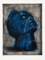 William Kentridge; Head: Blue