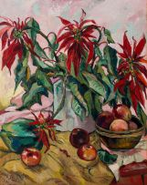 Irma Stern; Still Life with Poinsettias