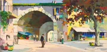 Cecil Rochfort D'Oyly-John; Continental Street Scene with Archway