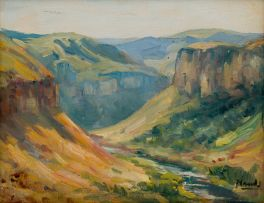 Hugo Naudé; Mountainous Landscape