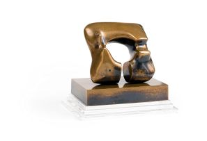 Henry Moore; Maquette Square Form with Cut