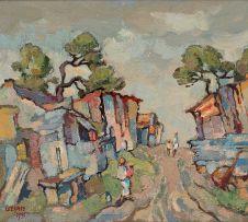 Gregoire Boonzaier; Street Scene with Figures