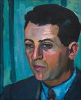 Maggie Laubser; Portrait of a Man