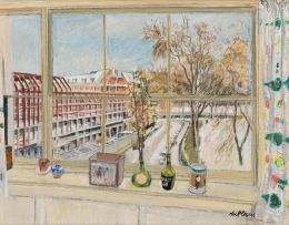 Enslin du Plessis; View from Window: Mecklenburgh Square, London