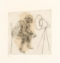 William Kentridge; Untitled (Artist Sitting)