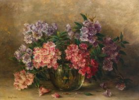 Frans Oerder; Rhododendrons in a Vase