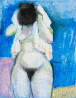 Douglas Portway; Nude with Towel