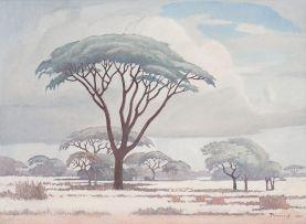 Jacob Hendrik Pierneef; Acacias in the Veld