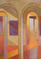 Bronwen Heath; Interior with Paintings