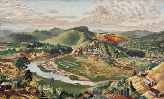 Geoffrey Terence Charlesworth; A view of the Umgeni River from Banfield Crescent, Puntans Hill, Durban