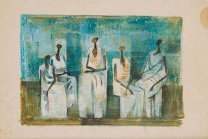 Normand Dunn; Five 'Basuto Gothic' Figures