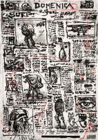 William Kentridge; Drawing for 'Íl Sole 24 Ore'
