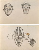 Alexis Preller; Masks, two