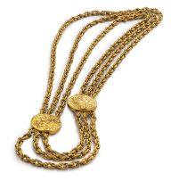 Gold necklace designed by Salvador Dali for Piaget, 1966