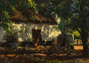 Tinus de Jongh; Cottage in the Shade