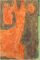 Wopko Jensma; Abstract with Orange and Brown