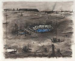 William Kentridge; Drawing for 'Felix in Exile'