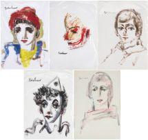 Carl Büchner; Five Portraits of Boys