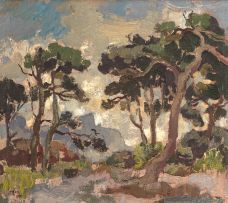Gregoire Boonzaier; Trees at Kenilworth