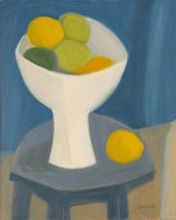 Nico Verboom; Still Life with Lemons in a White Bowl