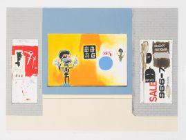 Sam Nhlengethwa; Tribute to Jean-Michel Basquiat