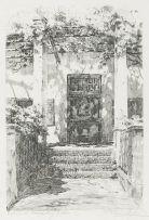 Tinus de Jongh; Entrance, Leeuwenhof, Gardens