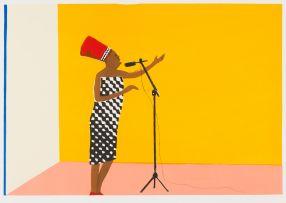 Sam Nhlengethwa; Tribute to Miriam Makeba