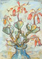 Gregoire Boonzaier; Cotyledon in Blue Vase