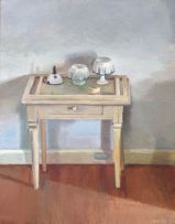 Clare Menck; Paraphernalia on a Side Table