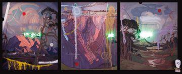 Wayne Barker; In God We Trust, triptych