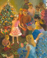Marjorie Wallace; Christmas Party (recto), In the Classroom (verso)