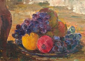 Cecil Higgs; Grapes, Oranges and Pomegranates in a Dish